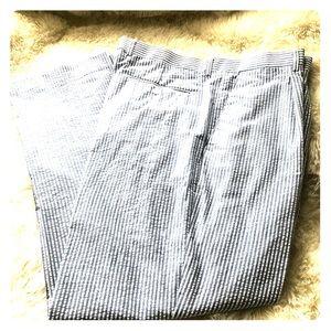 Linea Uomo men's blue & white seersucker pants 40